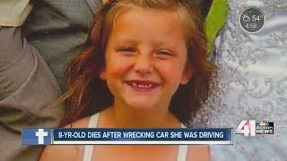 KS girl dies when car she was driving crashes