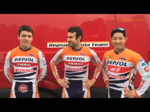 Los pilotos del Equipo Repsol Honda de Trial buscan cole.