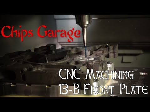 Custom CNC'd Mazda 13B Front Engine Plate - Chips Garage S1E1
