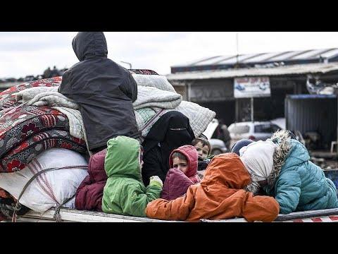 نازحون سوريون يقطنون الخيم قرب الجدار التركي الحدودي أملاً بالعبور إلى الأمان…  - نشر قبل 35 دقيقة