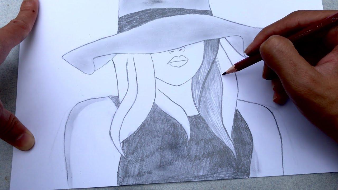 Vẽ tranh cô gái bằng BÚT CHÌ | how to draw with pencil