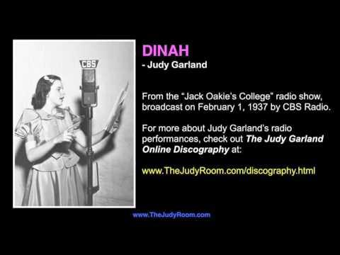 """Judy Garland sings """"Dinah"""" - Rare 1937 Radio Performance"""