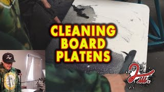 2 iLL Screen Printing - Cleaning - Board Platens