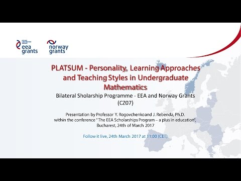 PLATSUM - Personality, Learning Approaches and Teaching Styles in Undergraduate Mathematics