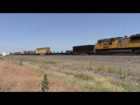Union Pacific Trains from Kearney to east of Gibbon,NE with UP RS3L on July 2,2017