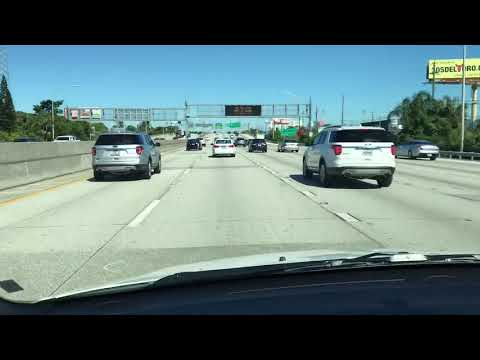 North on I 95, passed downtown Miami to Broward county