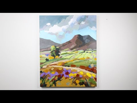 How to Paint an Abstract Landscape