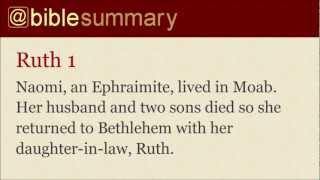 Bible Summary - Ruth
