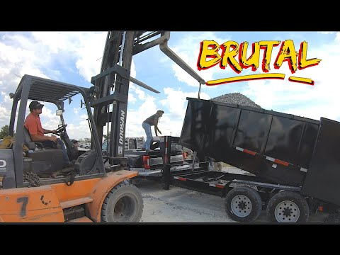 We Try To Break A Dump Trailer SEVERE OVERLOAD!