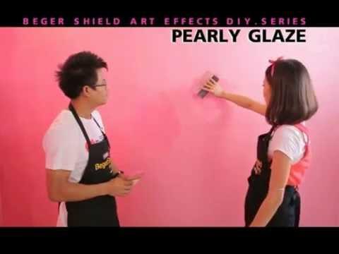 วิธีการทาสีสร้างลาย BegerShield Art Effects:รุ่น Pearly Glaze (เงางามดั่งไข่มุข)
