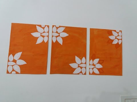 DIY WALL DECOR /easy canvas. Art for room decoration in hindi.