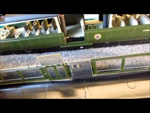 Heljan Railbus taken apart