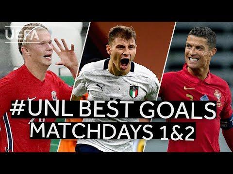 RONALDO, HAALAND, BARELLA: #UNL BEST GOALS, Matchdays 1&2