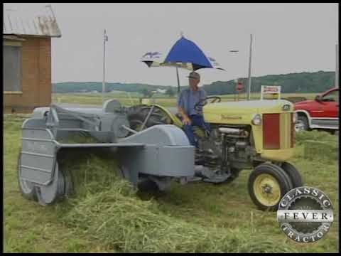 1956 Ferguson Model 40 Tractor baling hay with a 1954 Ferguson Baler - Classic Tractor Fever