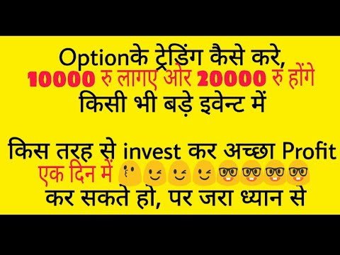 Option Trading First Lesson Long Strangle use Before Big Event. Must Watch Full Video