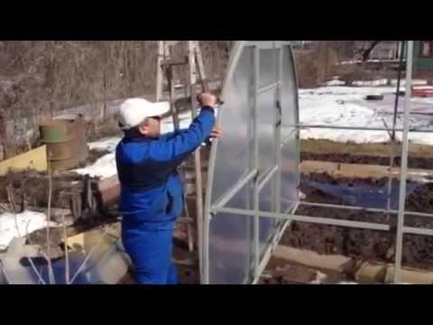 видео: Сборка теплицы из поликарбоната