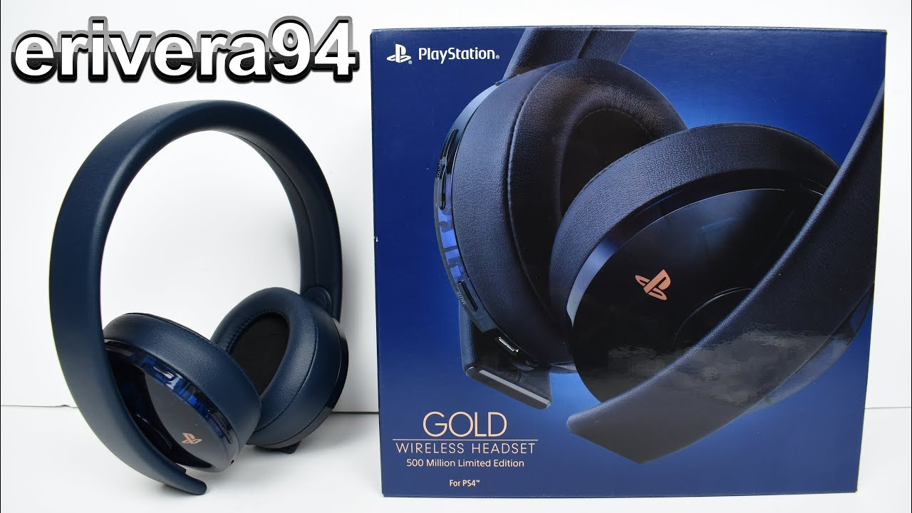 PS4 GOLD WIRELESS HEADSET 500 Million Limited Edition Translucent Playstation  4 Unboxing 2cf98559e0