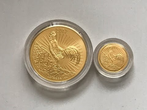 Royal Australian Mint 2017 Lunar Rooster 1 oz & 1/10th Gold