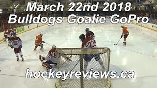 March 22nd 2018 Bulldogs Hockey Goalie GoPro