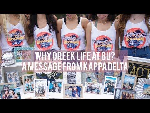Why BU Greek Life? A Message from Kappa Delta