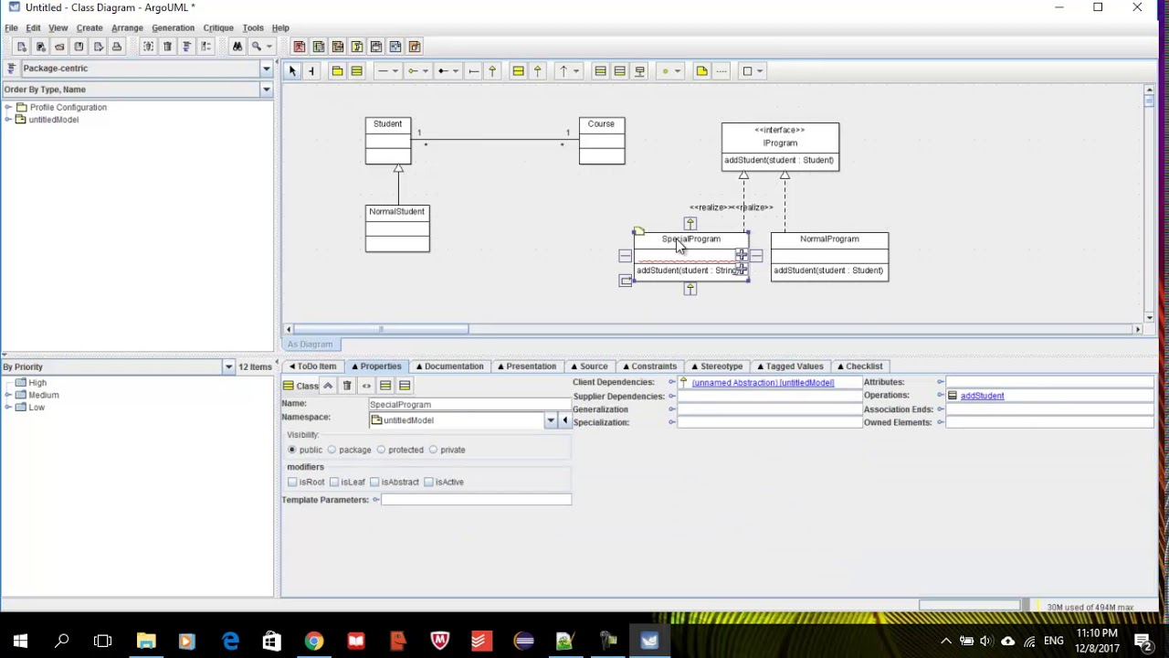 ArgoUml Exporting your class diagram and generate java ...