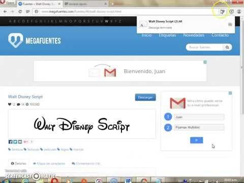 How to do the fount ''Walt Disney Script