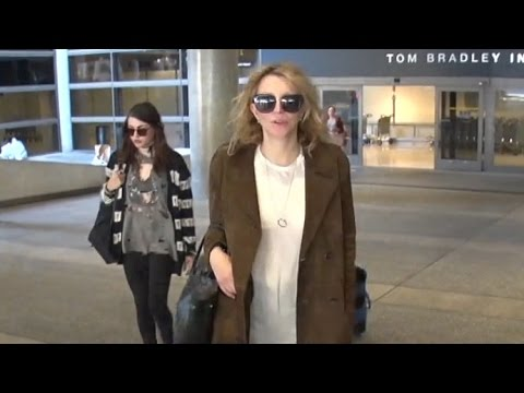 Courtney Love Is So 'Tired' Arriving Home With Frances Bean Cobain From Paris Fashion Week