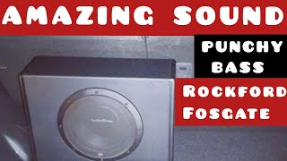 Best Subwoofer Bass Test | Clean and Punchy Bass | Rockford Fosgate Subwoofer | Car audio upgrade