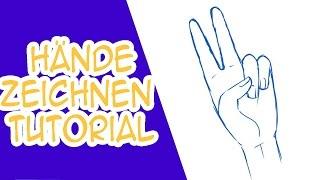 Hände zeichnen Tutorial: Peace Zeichen