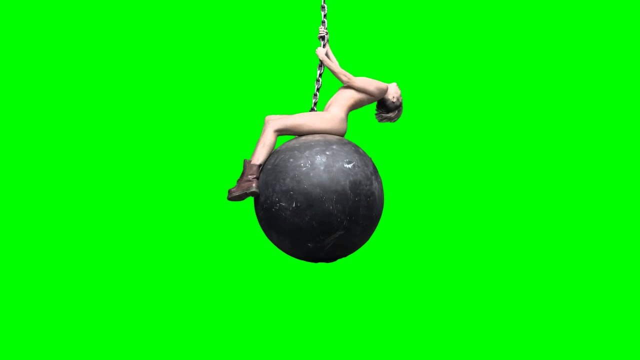miley cyrus naked on wrecking ball green screen hd youtube
