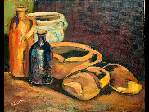 Vinnie's Crocks and Pots or Paint Vincent Van Gogh's Still life with Ginger Cook