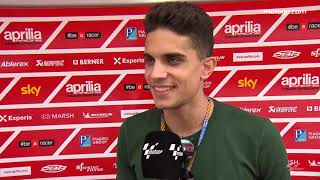 Spanish footballer Bartra visits the MotoGP™ paddock