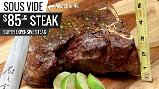 Sous Vide Dry Aged T-Bone Steak Super Expensive! $85.99 Steak by Sous Vide Everything