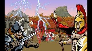 Спартанец VS Конкистадор (Эпоха войны 2/age of war 2)