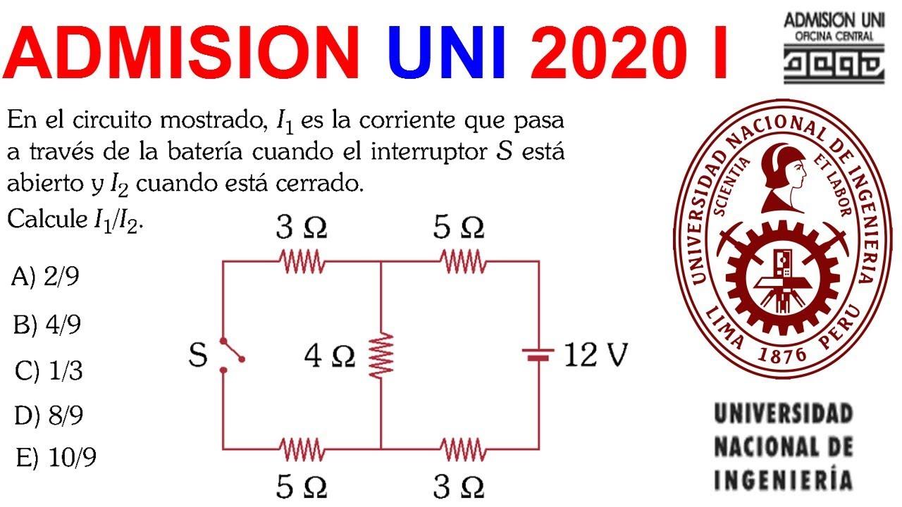 FISICA UNI 2020 I