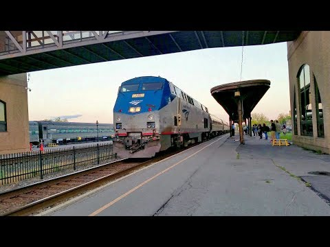 Amtrak Empire Service #283 Complete Station Stop: Utica, NY