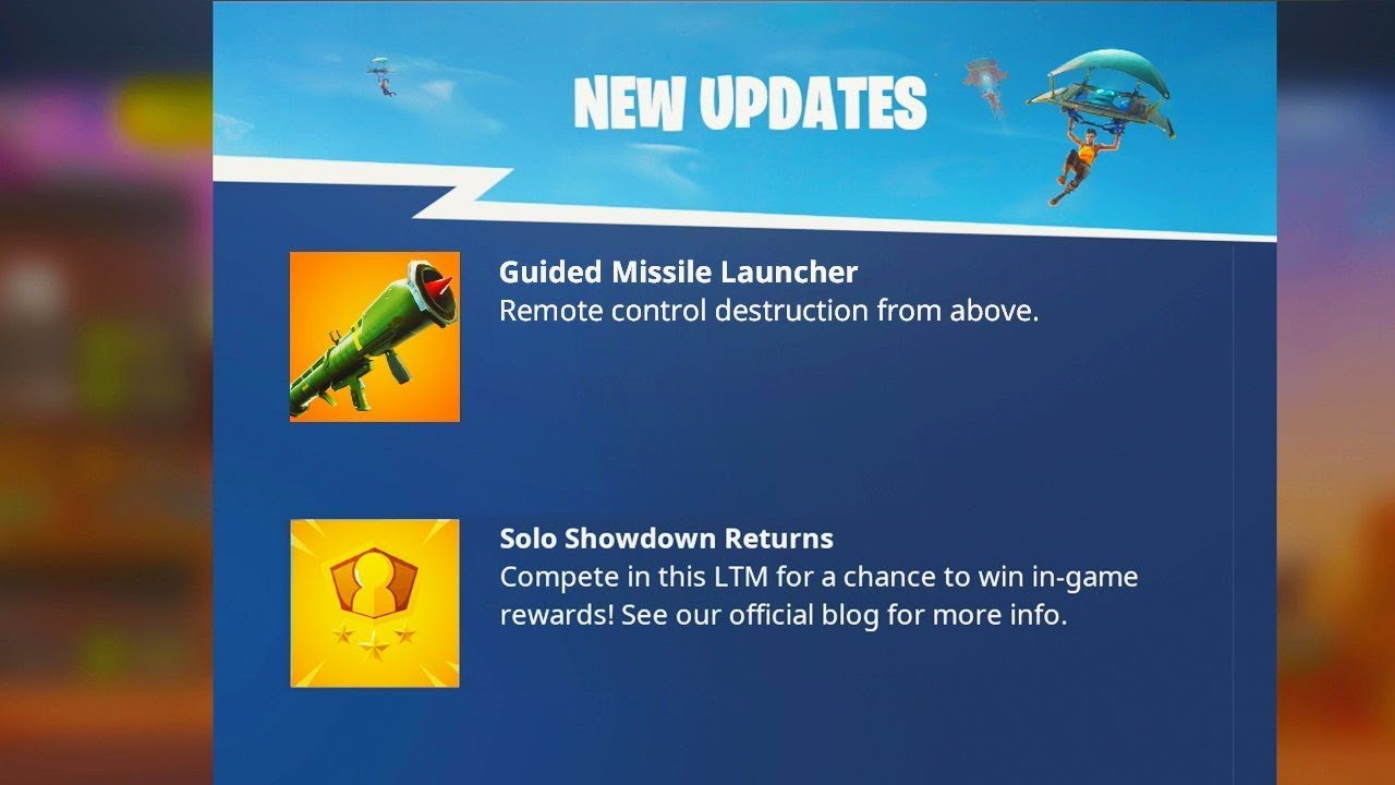 Fortnite GUIDED MISSILE LAUNCHER is BACK.. (NEW Fortnite UPDATE)