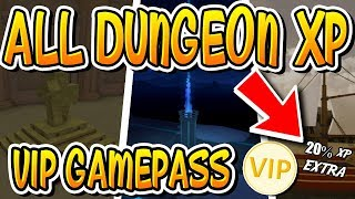 HOW MUCH XP EARNED IN EVERY DUNGEON IN DUNGEON QUEST!! (Roblox)