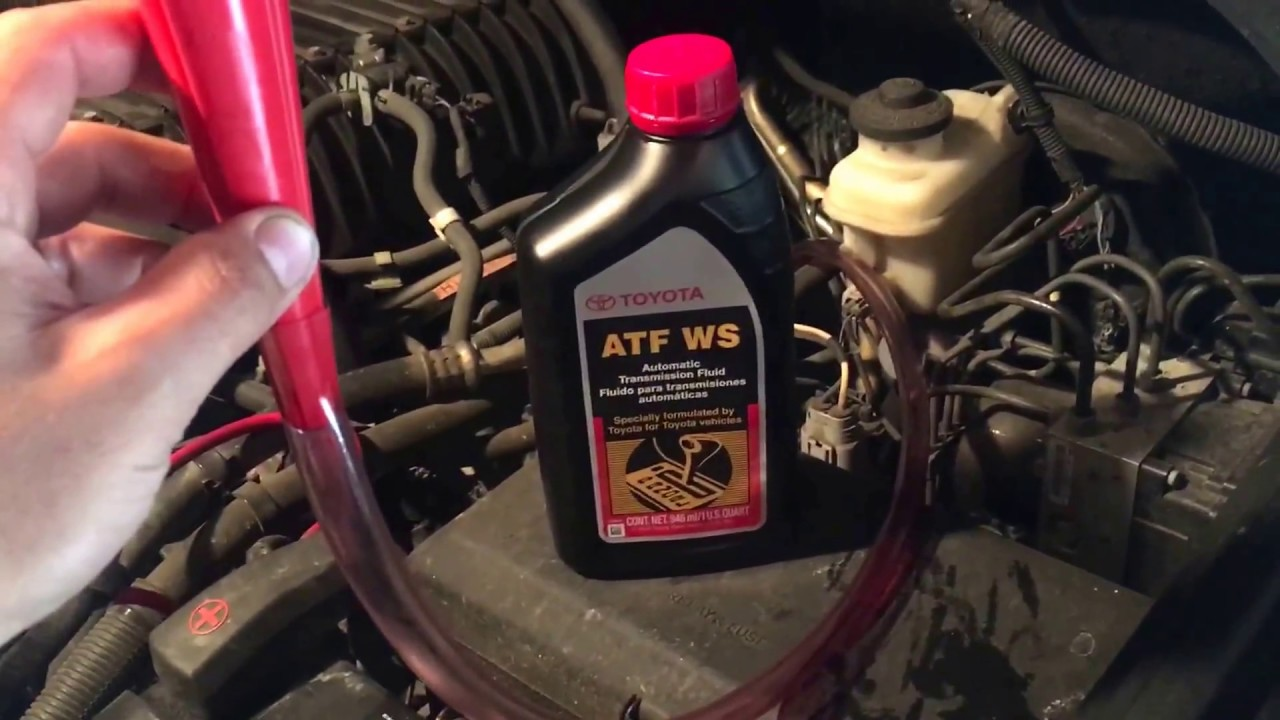 2006 toyota tundra automatic transmission fluid change