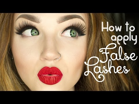 How to apply false eye lashes & make them more comfortable