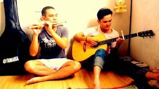 Khúc Cảm Tạ song tấu guitar vs sáo trúc @@