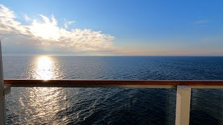 Cruise Ship Balcony Cabin Relaxation Video (1 hour)