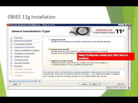 OBIEE 11g Installation Steps