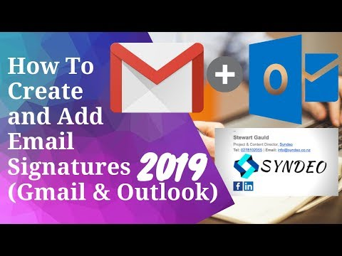 How to create email signature outlook 2020