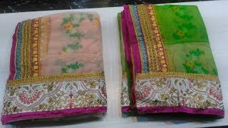 vuclip Designer Embroidery Sarees For Women || simple embroidery Saree blouse pattern