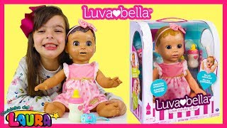 LAURINHA BRINCANDO COM NOVA BONECA ROBO LUVABELLA ! KIDS PRETEND PLAY WITH NEW ROBO DOLL LUVABELLA