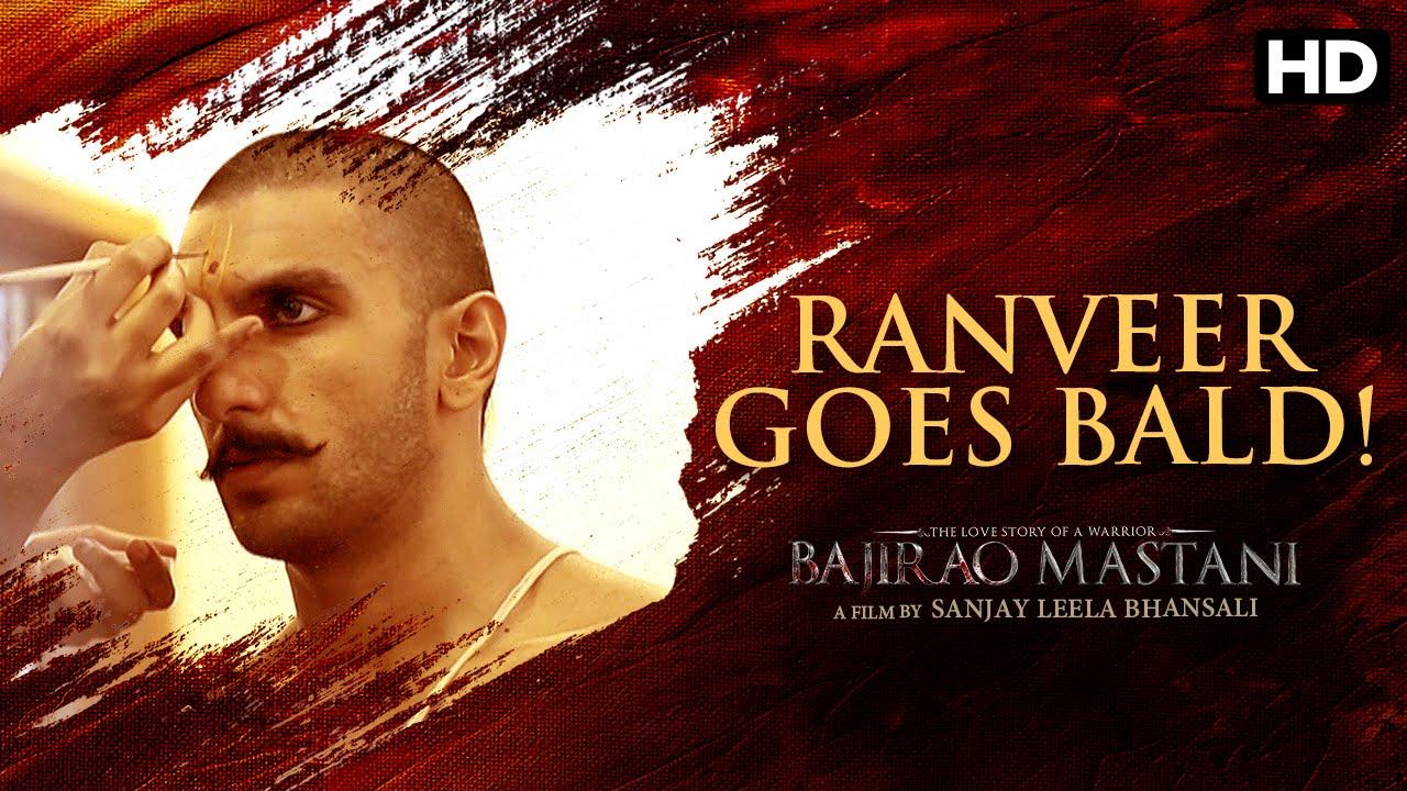 Ranveer goes bald for 'Bajirao Mastani'