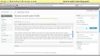 Tutorial: How to add a blog post to your website