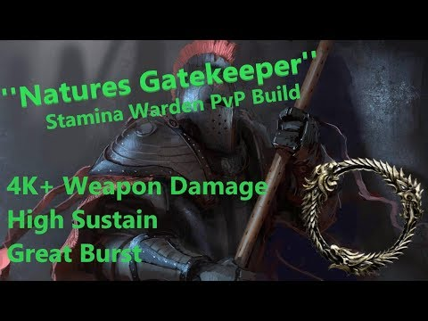 Stamina Warden PvP Build ''Natures Gatekeeper'' [Elsweyr 2019-30-05