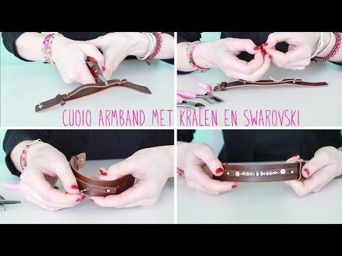 Sieraden maken: Hoe rijg je kralen aan een Cuoio armband? ♡ DIY